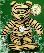 CELEBRITY BEAR 1990s Star #12 Tiger Woods Golf BEAN BAG Plush New with Mint Tag!