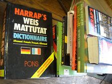 13 livres en allemand dictionnaire/grammaire harrap's