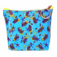 Lenticular Universal Purse Bag 3D Moving Starfish Blue Fish Ocean #R-122-PAVIA#