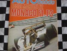 auto hebdo n°64 1977 / GRAND-PRIX MONACO & F3 & FRE / MARTINI F2 / INDIANAPOLIS