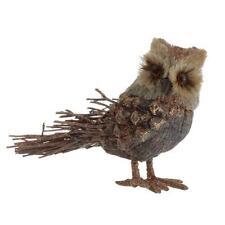 Owl Ornament 6.5 inch Twig Sisal Pinecone ff 3252429 NEW RAZ Christmas SAVE!