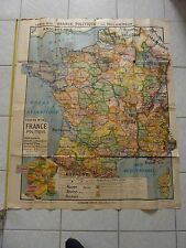 Carte de la France Politique KAEPPELIN à l'usages des Classes de 1ère et de 3ème