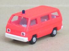 Mitsubishi L 300 Bus Feuerwehr in leuchtrot, o. OVP, Rietze, 1:87