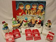 Set of 5 HALLMARK WIRELESS SNOWMAN BAND with Tags + BOOK 2010-2011 VERY RARE