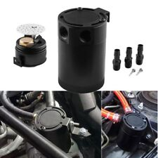Universal Auto Racing Baffled 3-Port Oil Catch Can/Tank/Air-Oil Separator Kit