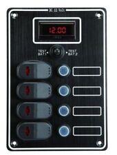 Schalttafel Schaltpanel 4-fach12 V mit Voltanzeige 2 Batterien - Bootszubehör