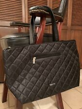 New Kenneth Cole Reaction Black Nylon Quilted Tote Shoulder Bag