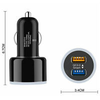 Dual QC 3.0 USB 2 Port 6.2A Quick Charge Car Charger For Samsung Huawei iPhone