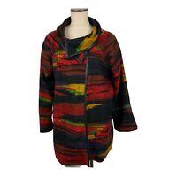 Ali Miles Southwestern Print Textured Knit  Blanket Jacket Size XL New Women's