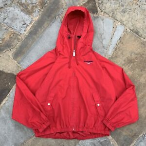 Vintage Polo Sport Spellout Logo Embroidered Hooded Cotton Jacket Size XL