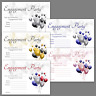 1-100 PACK OF ENGAGEMENT PARTY INVITATIONS Cards Invites with Envelopes