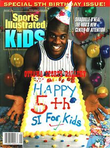 JAN 1994 SHAQUILLE O'NEAL SPORTS ILLUSTRATED FOR KIDS MAGAZINE • MINT (BB06)