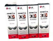 LG Cinema 3D Glasses AG-F310 4 Pairs NIB