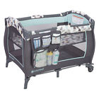 Baby Trend Trend E Nursery Center Playard Play Crib with Bassinet, Doodle Dots