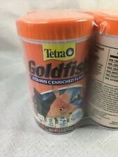New listing 4 Pack Tetra Goldfish Vitamin C Enriched Flakes Pet Food 2.2 oz, Exp. 11/23