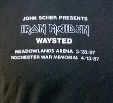 Iron Maiden Waysted Original Band/Crew Only Event Shirt 1987
