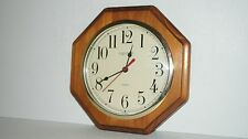 INGRAHAM USA QUARTZ WOOD WALL CLOCK