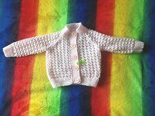 Hand Knitted Baby Girls Cardigan Newborn 0-3 Months Pink