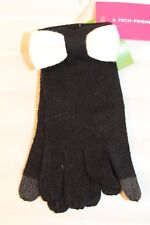 Kate Spade New York Color Block Gloves Black Off White Bow Tech MSRP $48 NEW