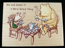 ALL NIGHT MEDIA USED RUBBER STAMPS 764J TEA & PARTY DISNEY POOH PIGLET PARTY