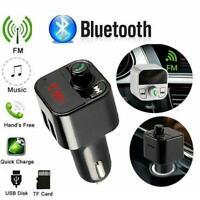 Wireless Bluetooth FM Transmitter Car Radio MP3 Player Kit USB Handsfree Ch B9Q0