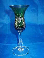 verre coup Apéritif Vert avec décor argent années 50 / années '60