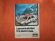 """PUBBLICITA' ORIGINALE ADVERTISING MODELLINO """"FIAT RITMO RALLY"""" POLISTIL del 1979"""