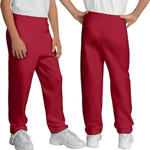 Youth Elastic Bottom Sweatpants  XS, S, M, L, XL Childrens Boys Girls Kids NEW