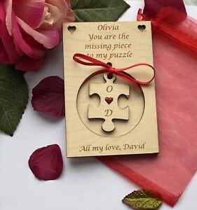 Personalised Wooden Card Gift Anniversary Wedding Birthday Love Girlfriend