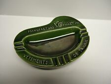 Vintage - Ceramic Ashtray - MANUFACTURE Codet INC. VETEMENTS DE TRAVAIL - QUEBEC