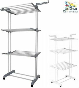 Foldable Clothes Airer 3 Tier Horse Drying Rack Laundry Washing Hanging Garment