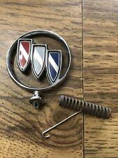 Vintage 80's OEM Buick Hood Ornament Emblem Tri Shield  Auto #5 W/ Spring