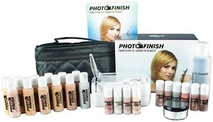 Professional Airbrush Makeup System,Fair- Tan  Master set Kit- Luminous