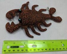 "Dark Leopard-Print Sand Filled Lobster/Crayfish 6"" Stuffed Animal by Toysmith"