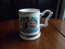 VINTAGE CERAMIC TANKARD `PRINCE WILLIAM` WARRANTED 22 CARAT GOLD.COMIC VERSE