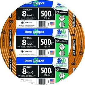 500 ft. 8-Gauge Solid SD Bare Copper Grounding Wire