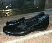 Munro American Black Patent Leather Comfort Loafers Flats Slip On Sz 9.5 ❤️tw4j7