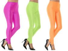 87b173fb1 80s Leggings Neon Pink Green Orange Spandex Ladies Fancy Dress