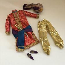 BARBIE COLLECTOR Arabian Nights Ken Sultan Costume Clothes Turban Scimitar Tunic
