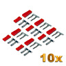 10 Paar JST BEC 2Pin Stecker Buchse Male Female 7,4v Lipo Akku Krimpen Crimp Set