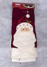 "Santa Christmas Tree Skirt Red Velveteen~48""~Trim a Home~Nwt"