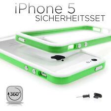 Apple iPhone 5S 5 Bumperset Handyhülle Bumper Handytasche  weiss grün