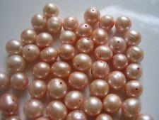 Lot of 100  Pearls 9 - 10 MM Big Blush Pink Pearls   BEAUTIES