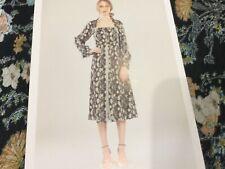 NWT Foxiedox New Ladies Small UK 8/10 Black Floral Midi Long Sleeved Dress