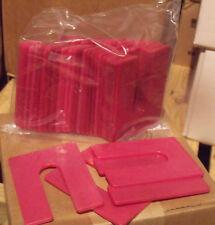 1/8 x 3 x 4 Plastic U-Shims - Black - 25/Pack