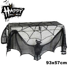 Halloween Bat Lace  Props Table Lamp Window Curtain Fireplace Cloth Home Decor