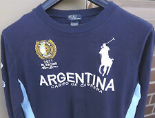 POLO RALPH LAUREN 2011 RL RACING ARGENTINA #8 Youth/Mens Long Sleeve Polo Sz XL