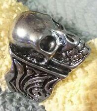 Stainless Steel Skull Ring Men Women Biker Gothic Halloween size 9 RSS54