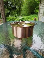 ALL CLAD C2 copper clad  8qt quart STOCK SOUP SAUCE POT with lid MADE IN AMERICA