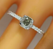 1.22 ct solitaire real diamond engagement  ring 18k  white gold wedding rings